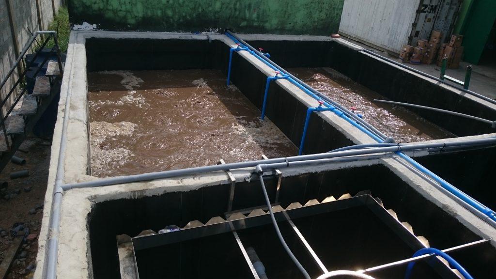 bể xử lý nước thải có cấu tạo đơn giản